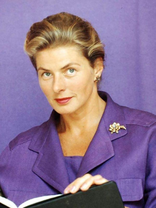 Ingrid Bergman eyes