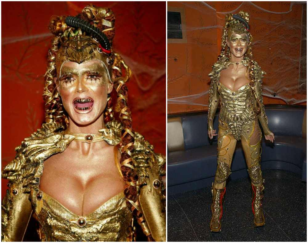 Heidi Klum's Halloween costume in 2003